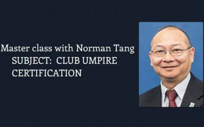 Club Umpire seminar with Norman Tang