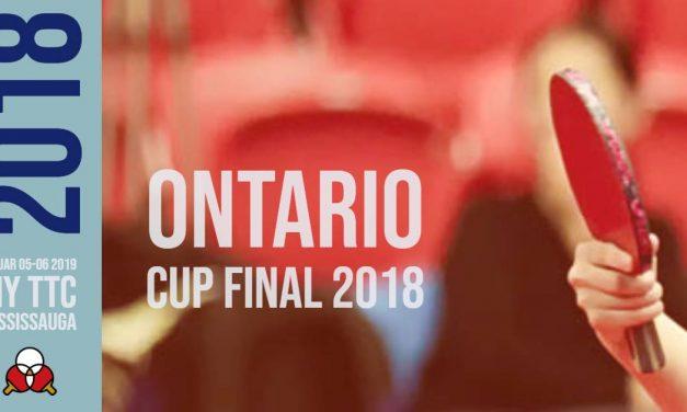 Ontario Cup Final 2018