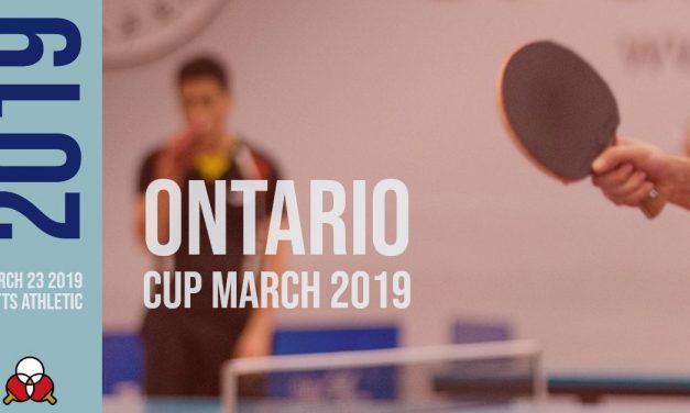 Ontario Cup March 2019