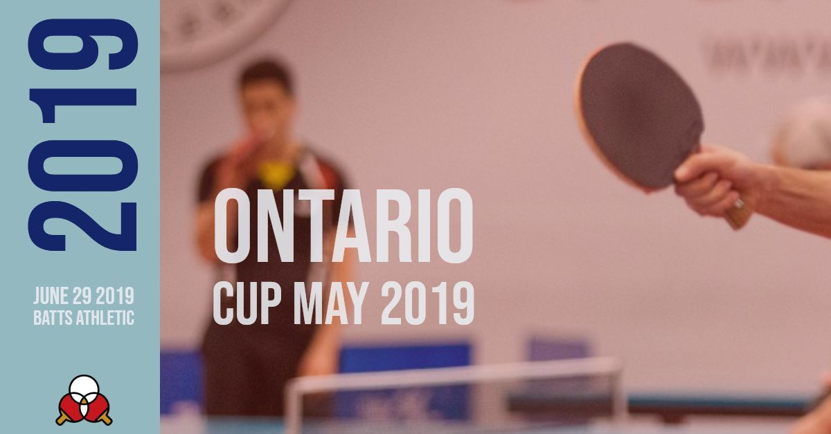 Ontario Cup May 2019 – June 29th