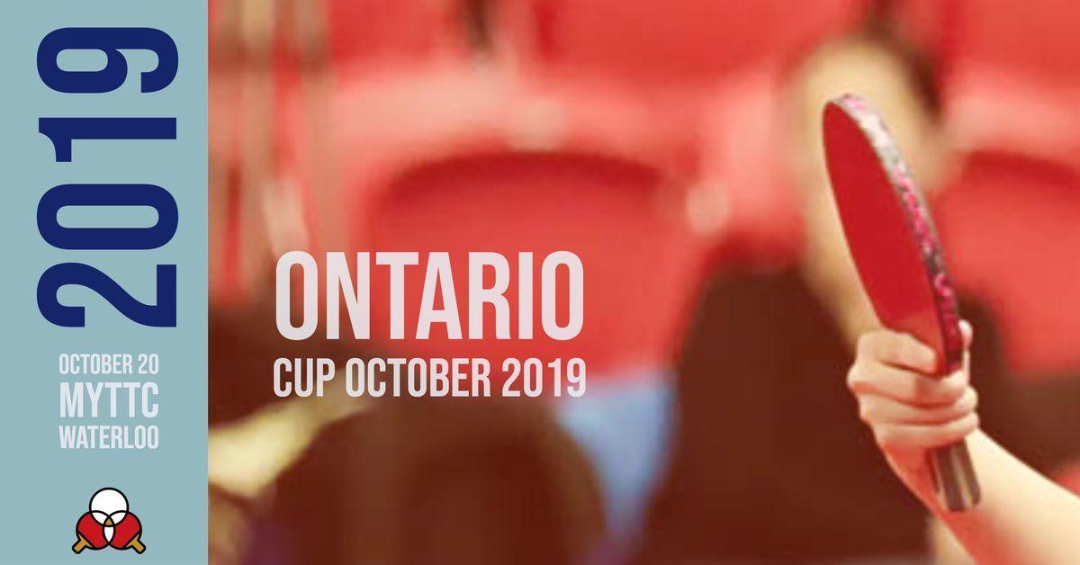 Ontario Cup October 2019