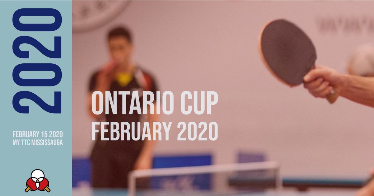 Ontario Cup FEBRUARY 2020
