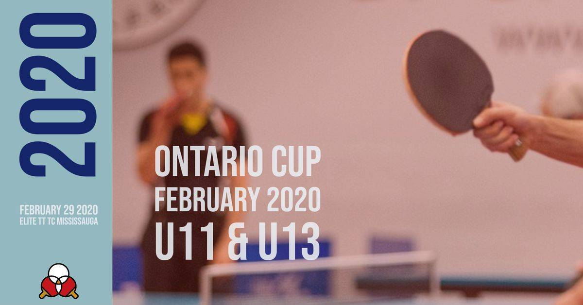 Ontario Cup FEBRUARY 2020 (U11 and U13 only)