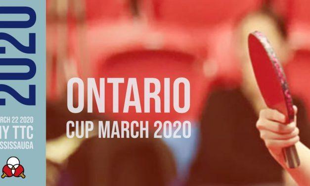 Ontario Cup march 2020